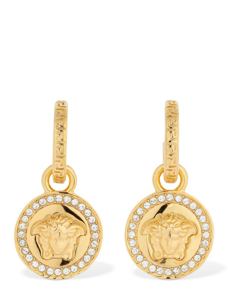 VERSACE Icon Crystal Medusa Earrings in gold
