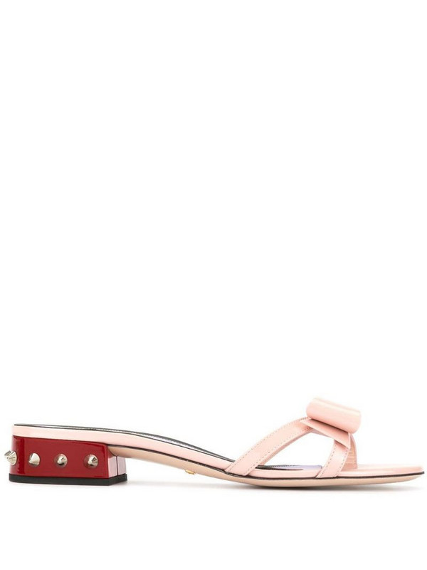 Gucci spike stud sandal in pink