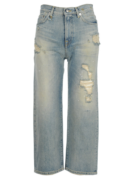 R13 Camille High Rise Jeans in blue
