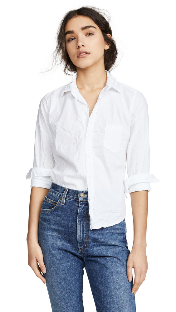 Frank & Eileen Barry Button Down Shirt in white