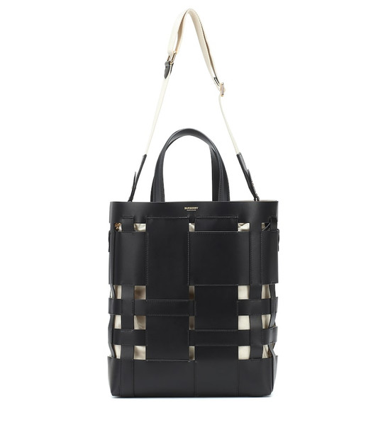 Burberry Small Foster leather bucket bag in black