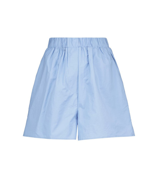 Frankie Shop Lui cotton shorts in blue