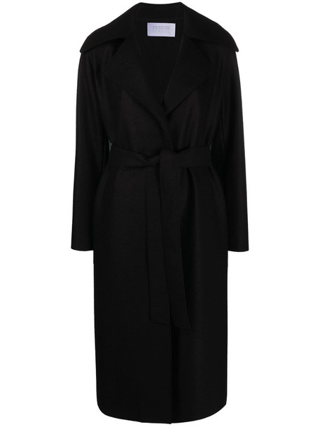 Harris Wharf London belted trench coat in black