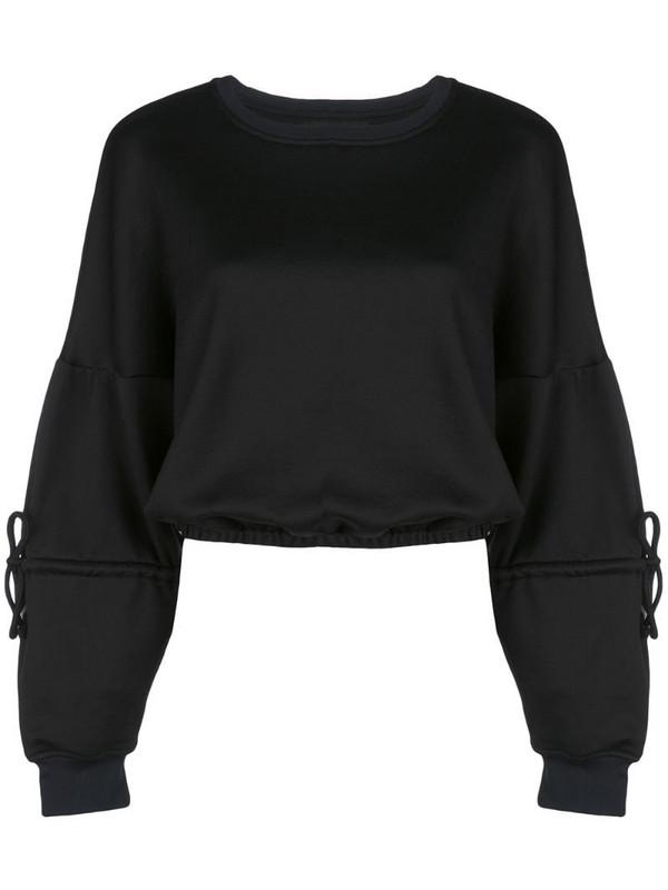 Koral Trivia Valo cropped sweatshirt in black