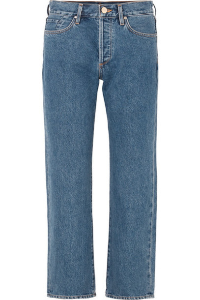 Goldsign - The Relaxed Mid-rise Straight-leg Jeans - Indigo