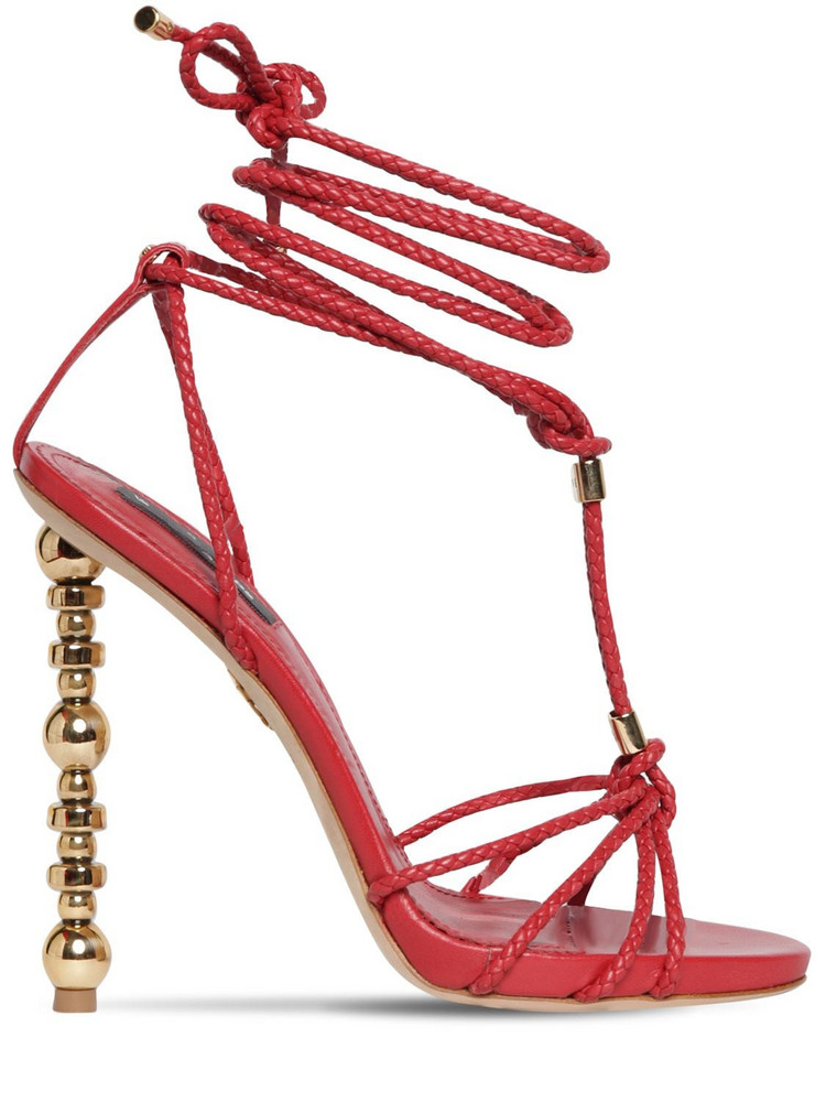 DSQUARED2 120mm Leather Sandals in red