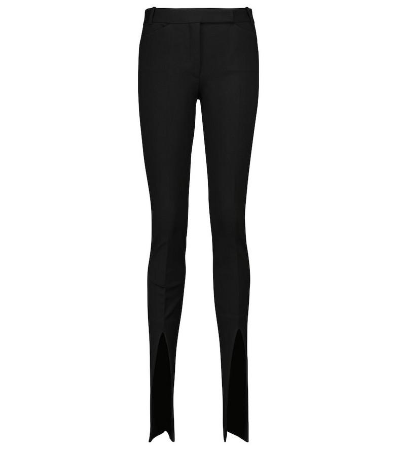 The Attico High-rise split-hem pants in black