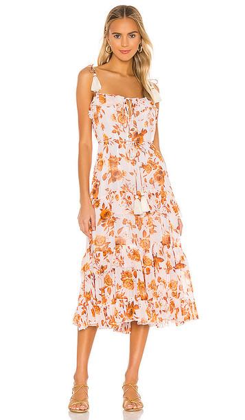 Karina Grimaldi Lori Print Dress in White