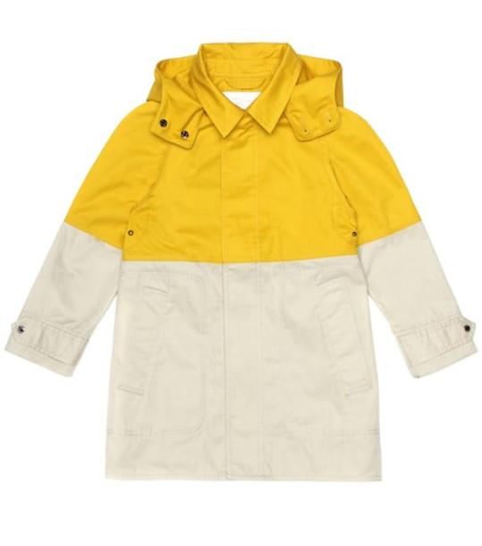 Burberry Kids Cotton car coat in beige / beige