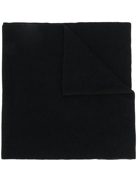 Karl Lagerfeld logo sprint scarf in black