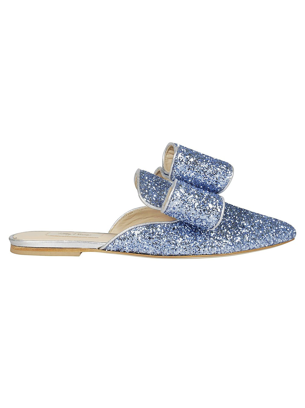 Polly Plume Betty Bow Mules in azure