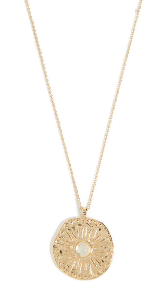Gorjana Maya Coin Necklace in gold