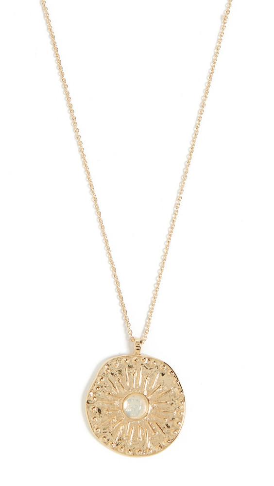 Gorjana Maya Coin Necklace in gold