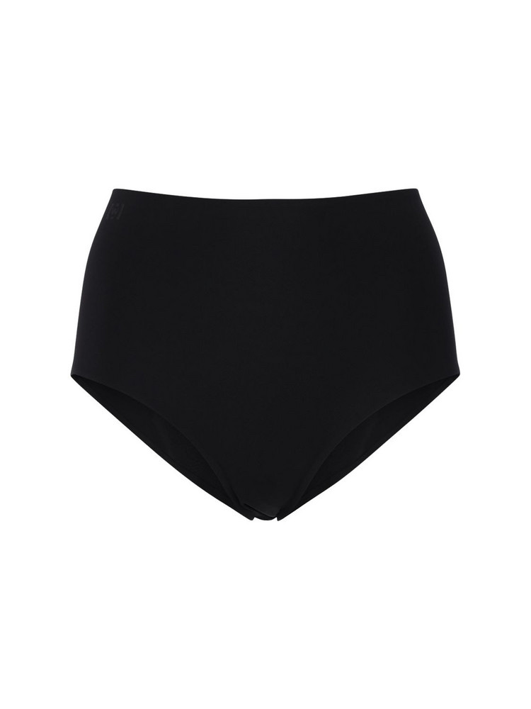 WOLFORD Cara Sustainable High Bikini Bottoms in black