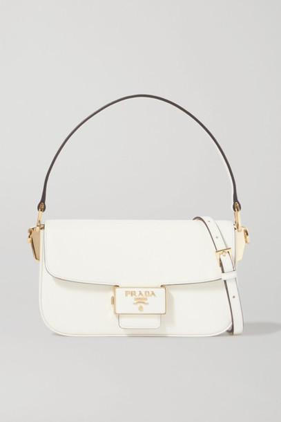 Prada - Ensemble Textured-leather Shoulder Bag - White