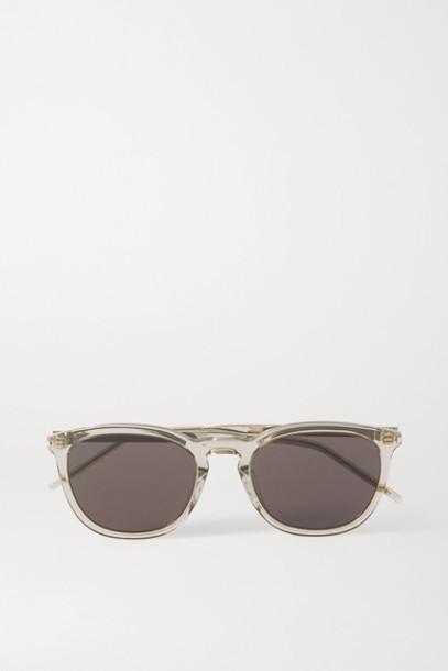 SAINT LAURENT - Square-frame Acetate Sunglasses - Brown