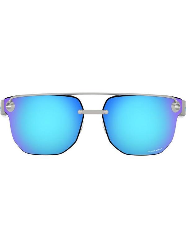Oakley Chrystl mirrored sunglasses in metallic
