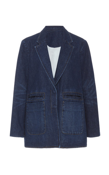 Rachel Comey Andes Cotton Blazer Size: 00 in blue