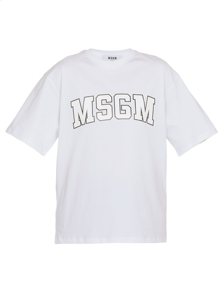 MSGM Cotton T-shirt in white