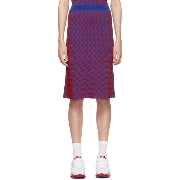 Opening Ceremony Red and Blue Squiggle Skirt