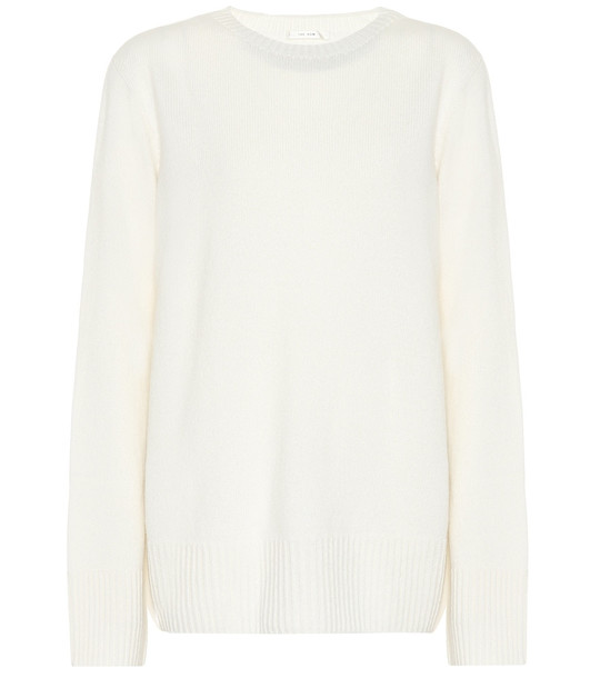 The Row Sibel wool-blend sweater in white