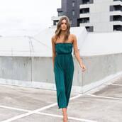jumpsuit,green jumpsuit