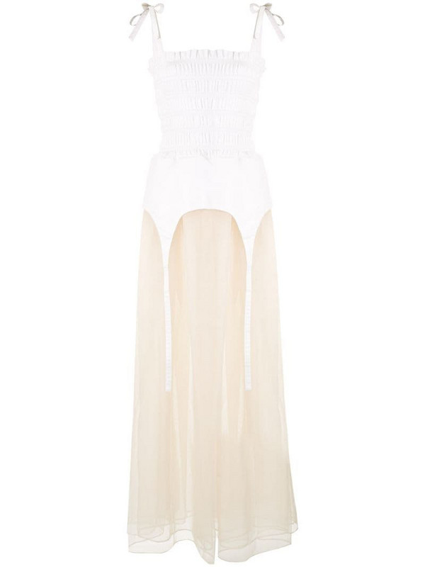 Sandy Liang Eight cocktail dress in white