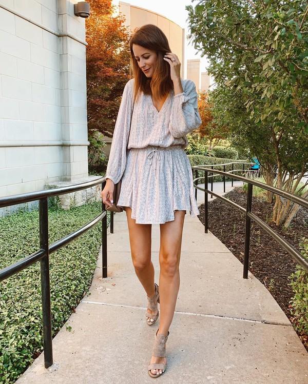 dress mini dress long sleeve dress sandal heels shoulder bag