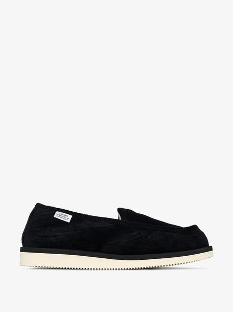 Suicoke black corduroy loafers