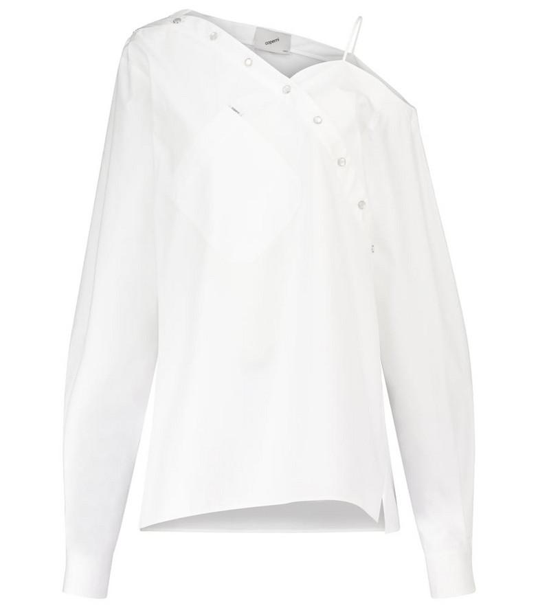 Coperni Heart Motion cotton shirt in white