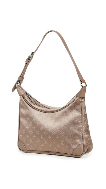 What Goes Around Comes Around LV Beige Satin Little Boulogne Bag