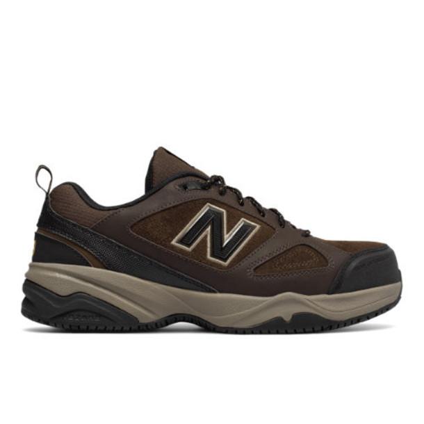 New Balance Steel Toe 627v2 Men's Work Shoes - Brown/Black (MID627O2)
