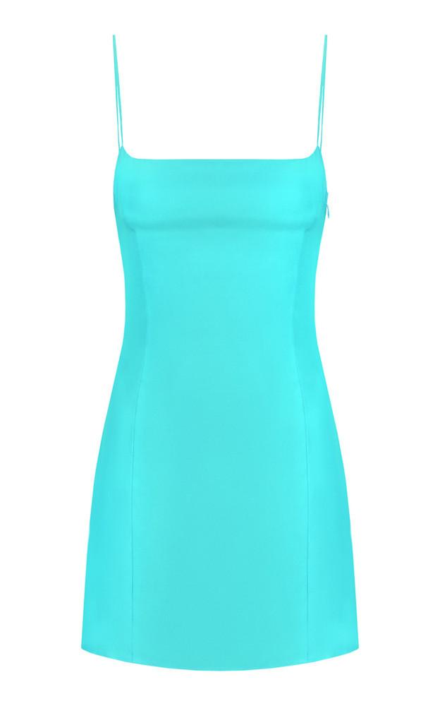 Gauge81 Toyama Silk Mini Dress in turquoise