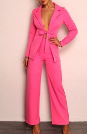 jumpsuit,girl,girly,girly wishlist,pink,two-piece,blazer,pants,matching set,suit