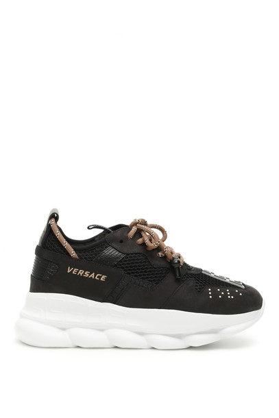 Versace Chain Reaction Sneakers in black