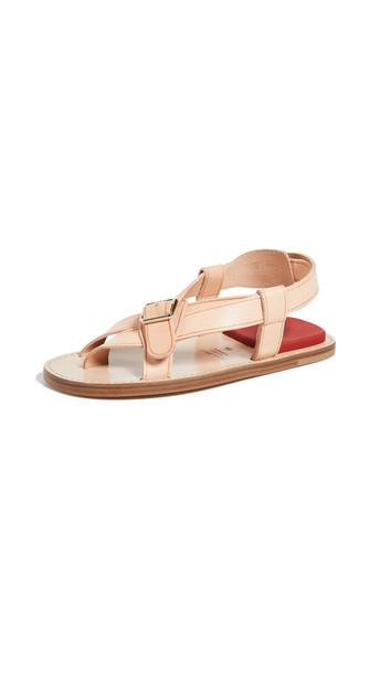 Acne Studios Biana Sandals in red / beige