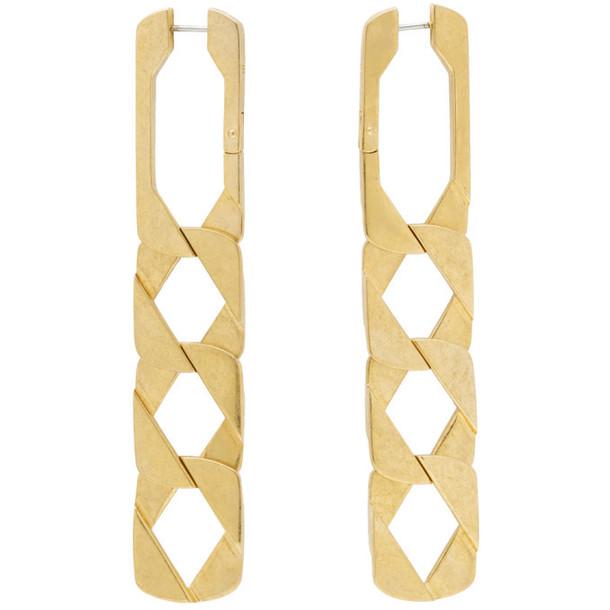 Alexander Wang Gold Drop Chain Earrings
