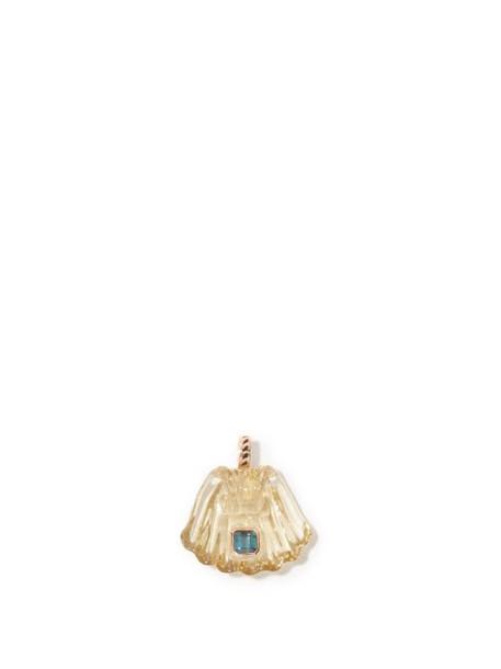 Dezso - Tourmaline, Quartz & 18kt Gold Necklace Pendant - Womens - Yellow Multi