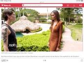 "dress,brown,on tv germanys next topmodel,joan smalls,on 'germanys next topmodell''"",victoria's secret model"