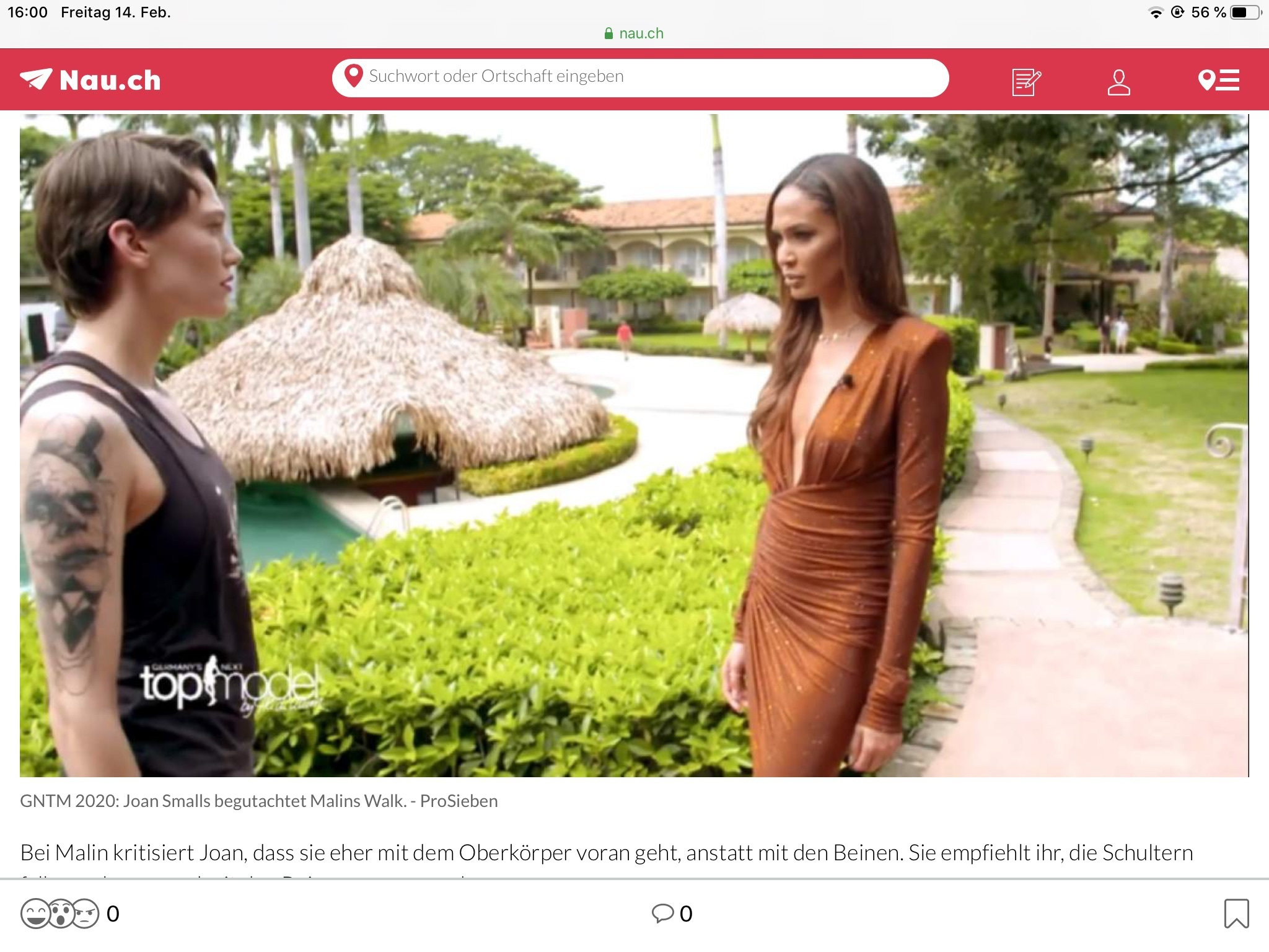 "dress brown on tv germanys next topmodel joan smalls on 'germanys next topmodell''"" victoria's secret model"
