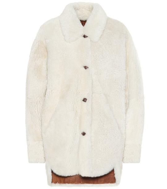 Isabel Marant Sarvey shearling coat in white