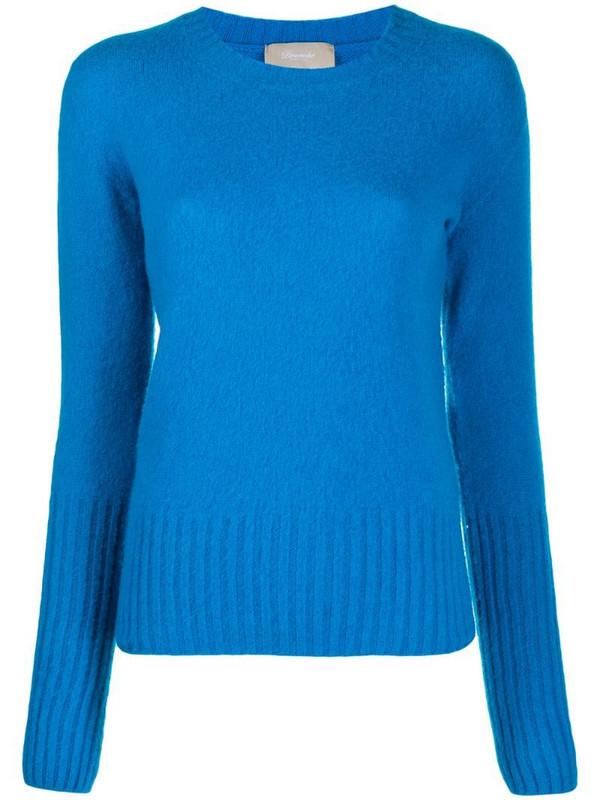Drumohr textured knit jumper in blue