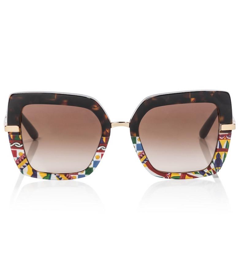 Dolce & Gabbana Oversized square sunglasses in brown