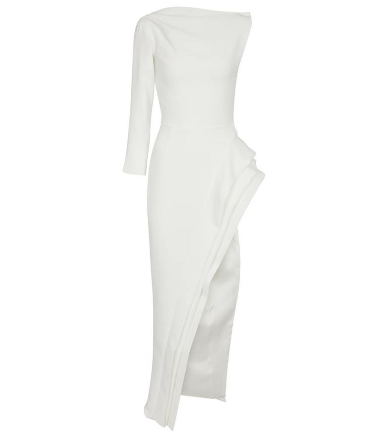 Maticevski Pinnacle cady gown in white