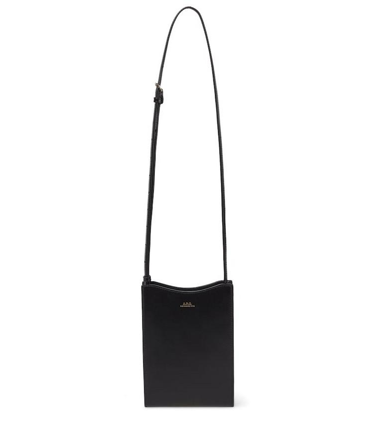 A.P.C. Jamie leather crossbody bag in black