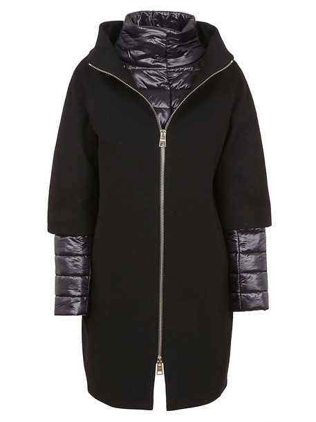 Herno Detachable Padded Coat in nero