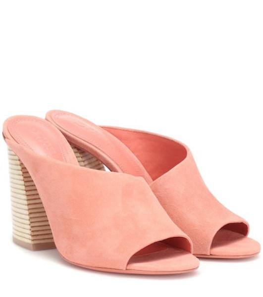 Mercedes Castillo Izar suede sandals in pink