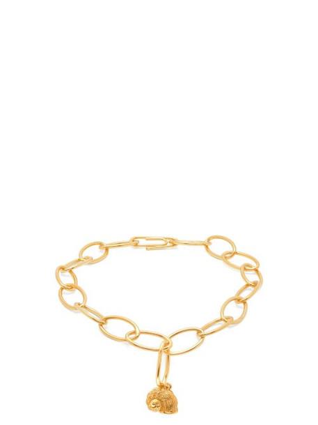 Aurélie Bidermann - Twist Seashell Charm Gold Plated Anklet - Womens - Gold