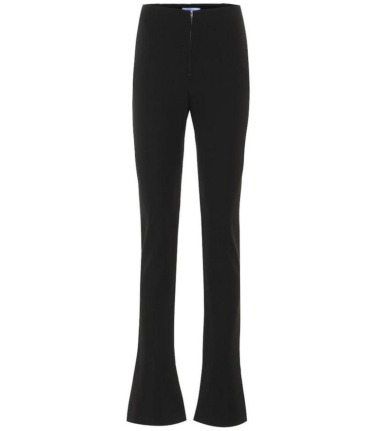 Mugler High-rise slim pants in black