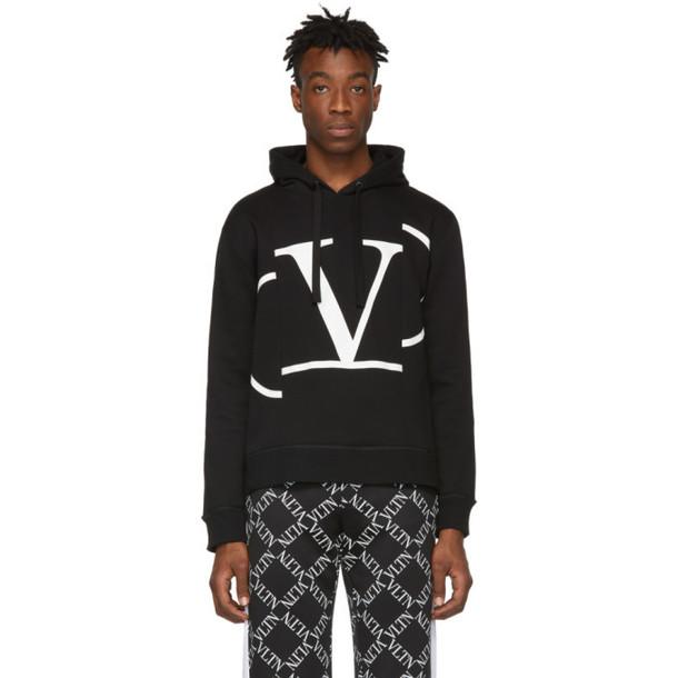 Valentino Black 'V' Hoodie